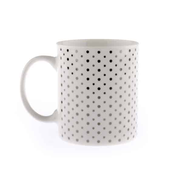 Porcelánový hrnček bodky