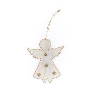 Závesná dekorácia anjel s hviezdičkami