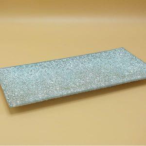 Strieborný sklenená podložka