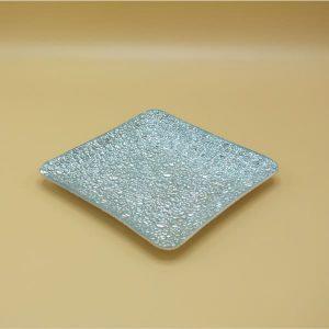Strieborná sklenená podložka