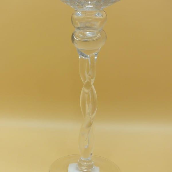 Sklenený svietnik na stopke 35 cm