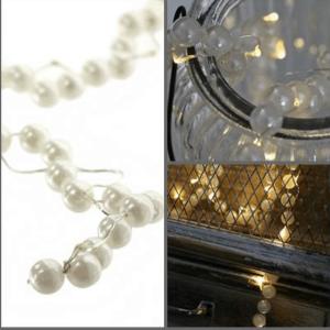 Svetelne led perly s časovačom