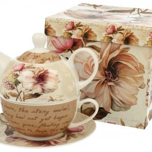 Porcelánový čajník záhradné kvety