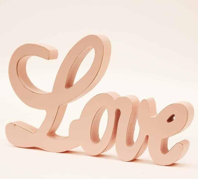 dekoračný nápis LOVE ružova