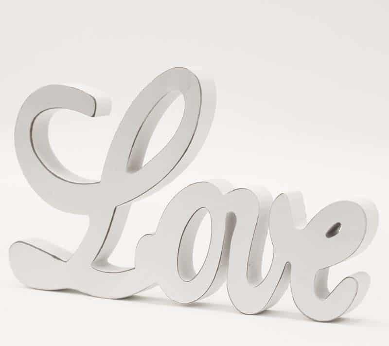 Dekoračný nápis LOVE