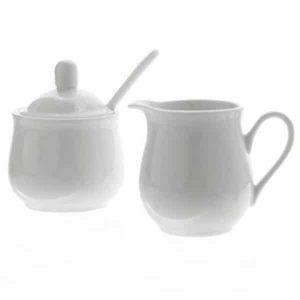 Porcelánová cukornička s mliečnikom