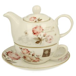 Čajník so šálkou a miskou SECESJA