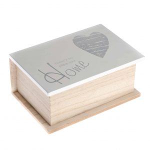 Drevená krabička HOME