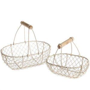 Set kovových košíkov s rúčkou