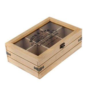 Drevená krabička na čaj