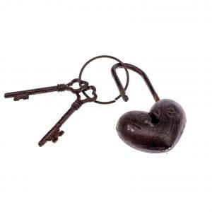 Liatinový zámok LOVE s kľúčmi