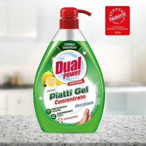 Dual Power čistiaci prostriedok na riad Piatti Gel Limone 1000 ml