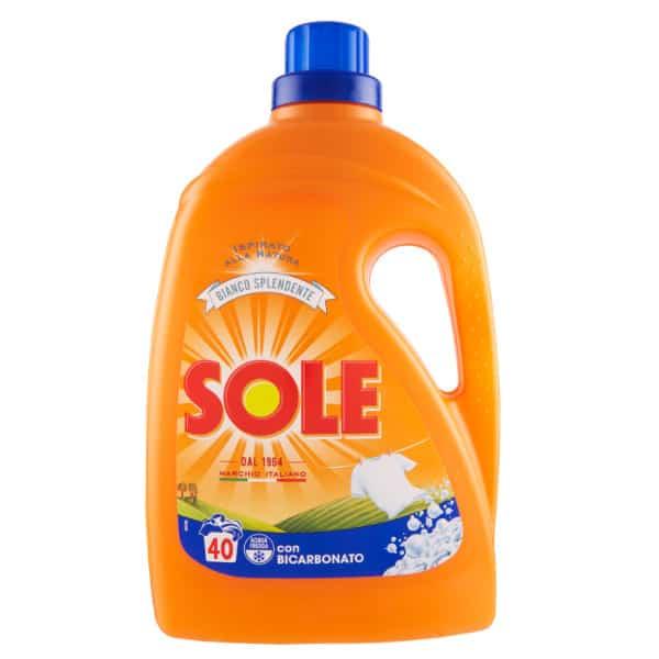 Gél na pranie SOLE con Bicarbonato 2,0 l 40 pracích dávok