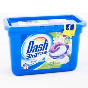 Kapsule na pranie Dash 3 v 1 Orchidea Bianca 15 pracích dávok