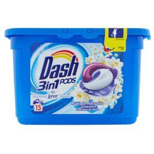 Kapsule na pranie Dash 3 v 1 Rugiada Mattutina 15 pracích dávok