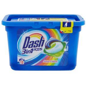 Kapsule na pranie Dash 3 v 1 Salva Colore 15 pracích dávok