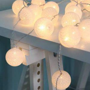 Led bavlnené žiarovky z adaptérom