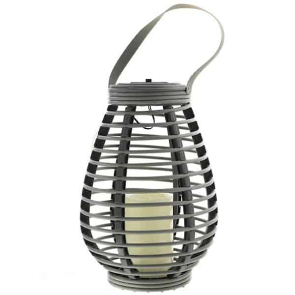 Solárny lampión s led sviečkou S