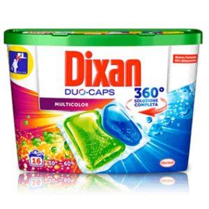 Kapsule na pranie Dixan Multicolor 16 pracích dávok